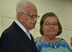 Pr. Gilberto e irmã Albertina completariam em 2015 quase sete décadas de casamento